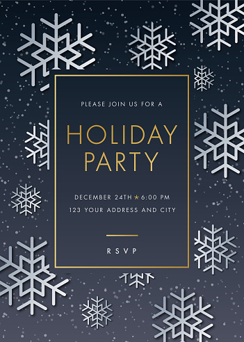 Holiday Party invitation with Snowflake - gettyimageskorea