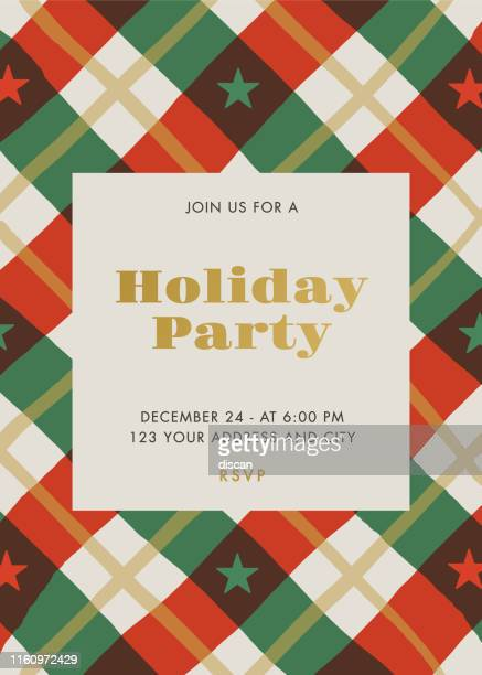 holiday party invitation with stars and stripes. - invitation stock illustrations