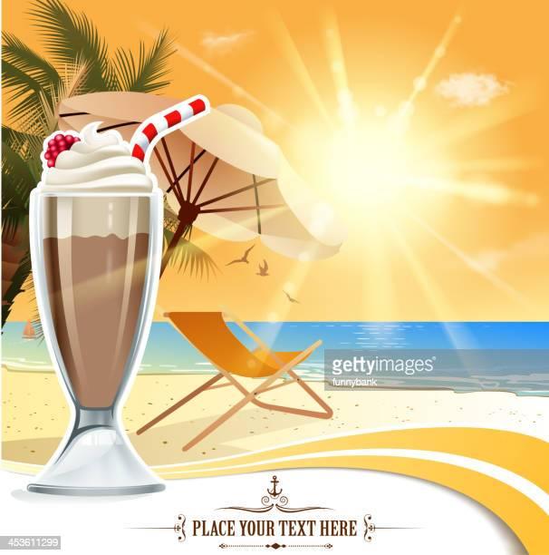 ilustrações, clipart, desenhos animados e ícones de a placa de férias - milk shake