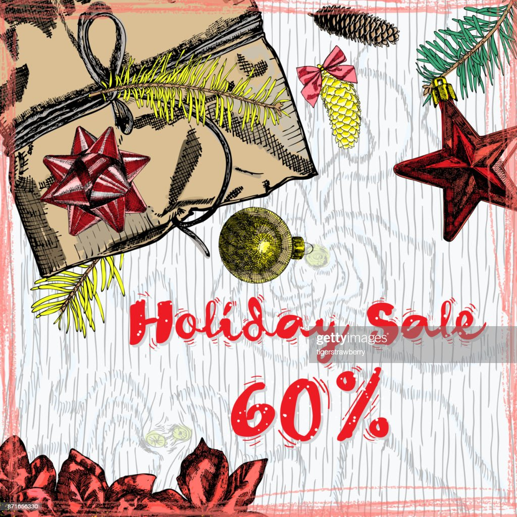 Holiday Sale 60 Percent Off Christmas And New Year Discount Sale