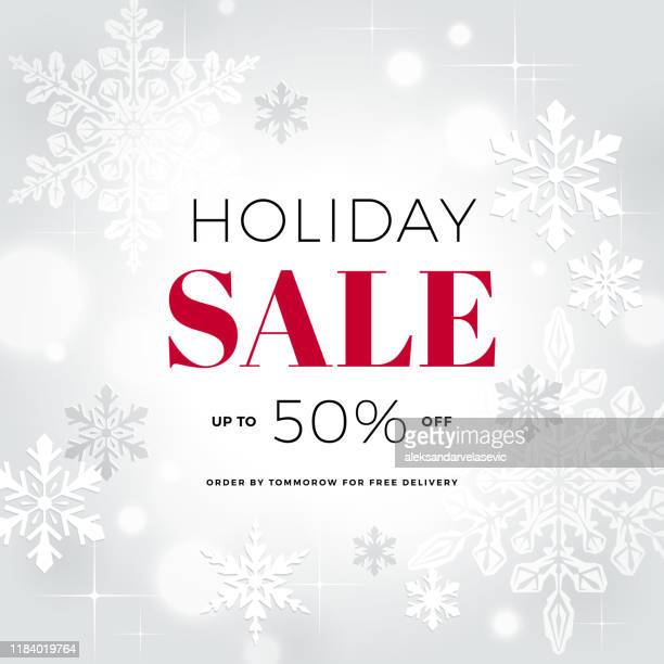 holiday sale banner - reduction stock illustrations