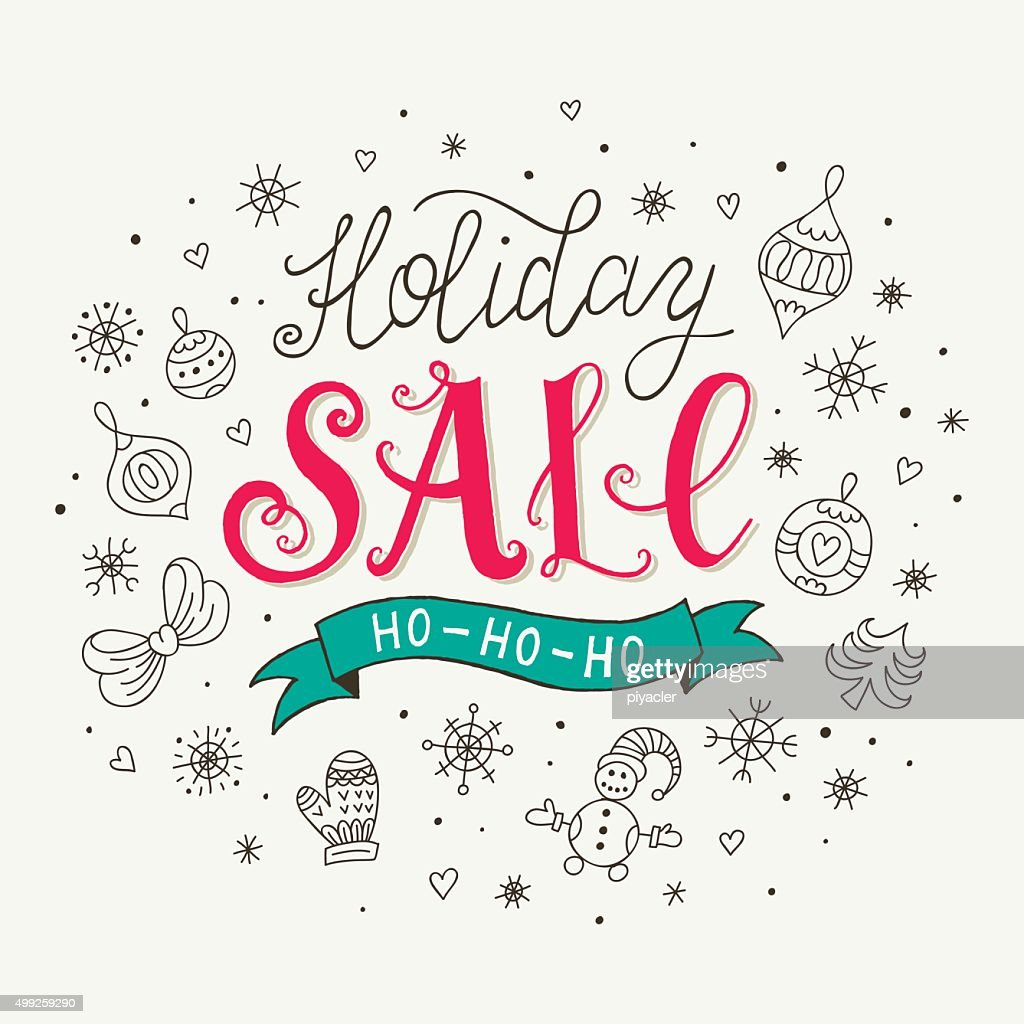 Holiday sale poster