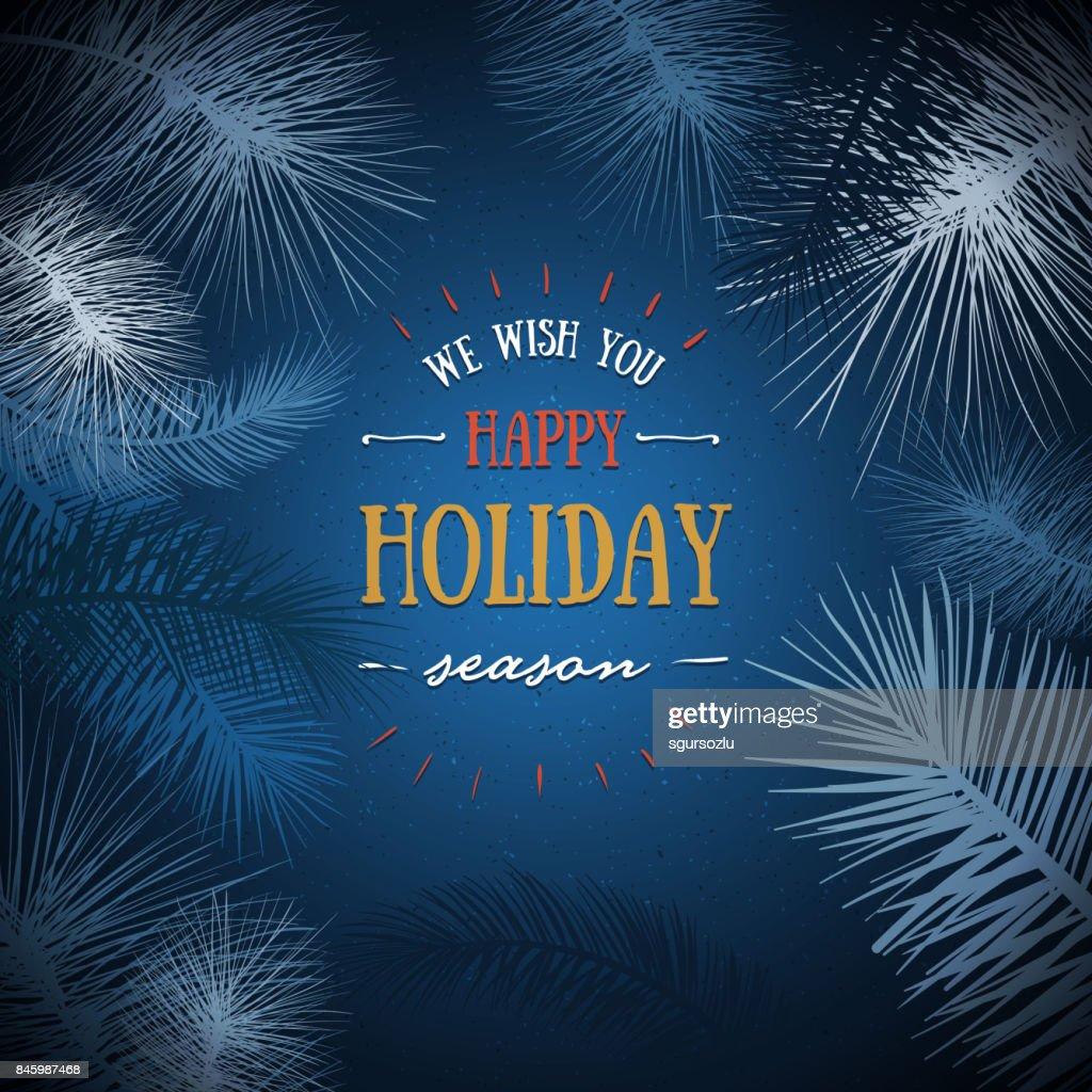 Holiday Season Greeting Card Vector Art Getty Images