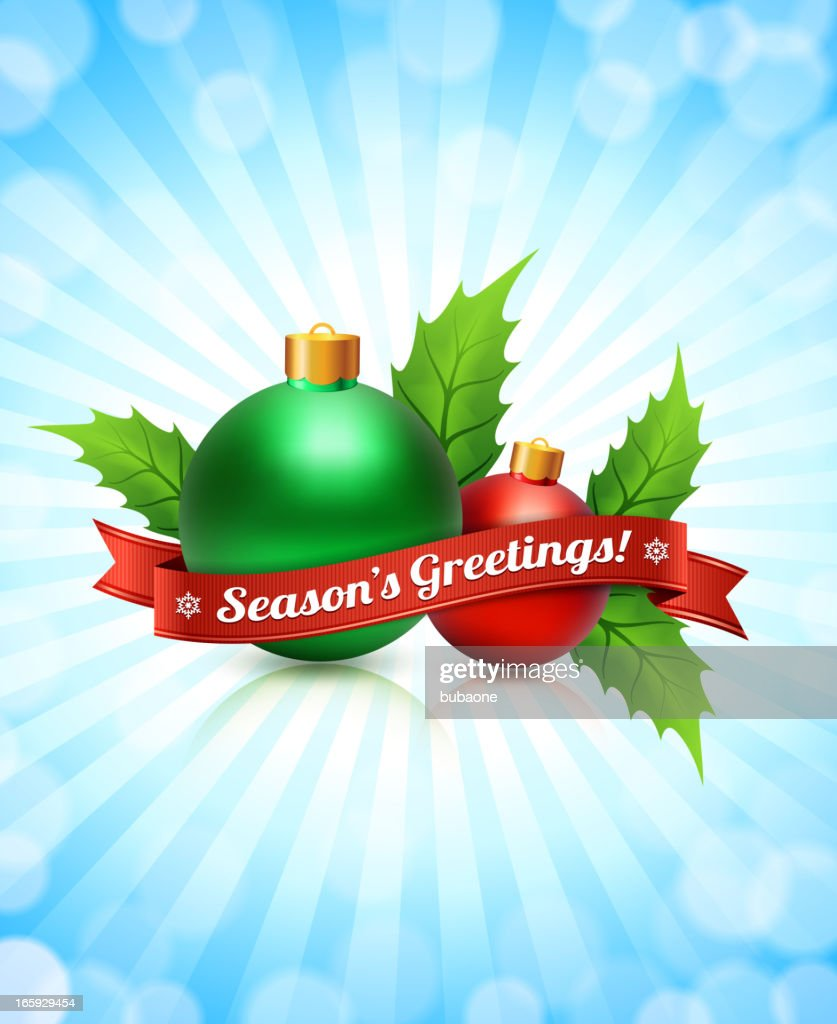 Holiday Season Greeting Card With Red Ribbon Vector Art Getty Images