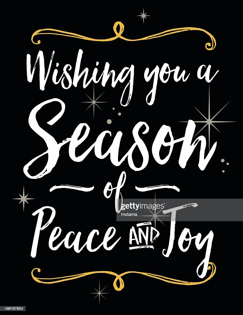 Holiday Season Greeting with Bold Script Lettering