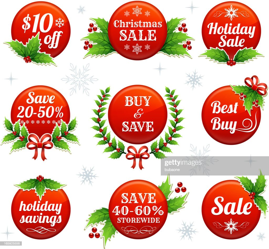 Holiday Shopping Buttons