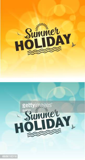 holiday sign - sunlight stock illustrations, clip art, cartoons, & icons