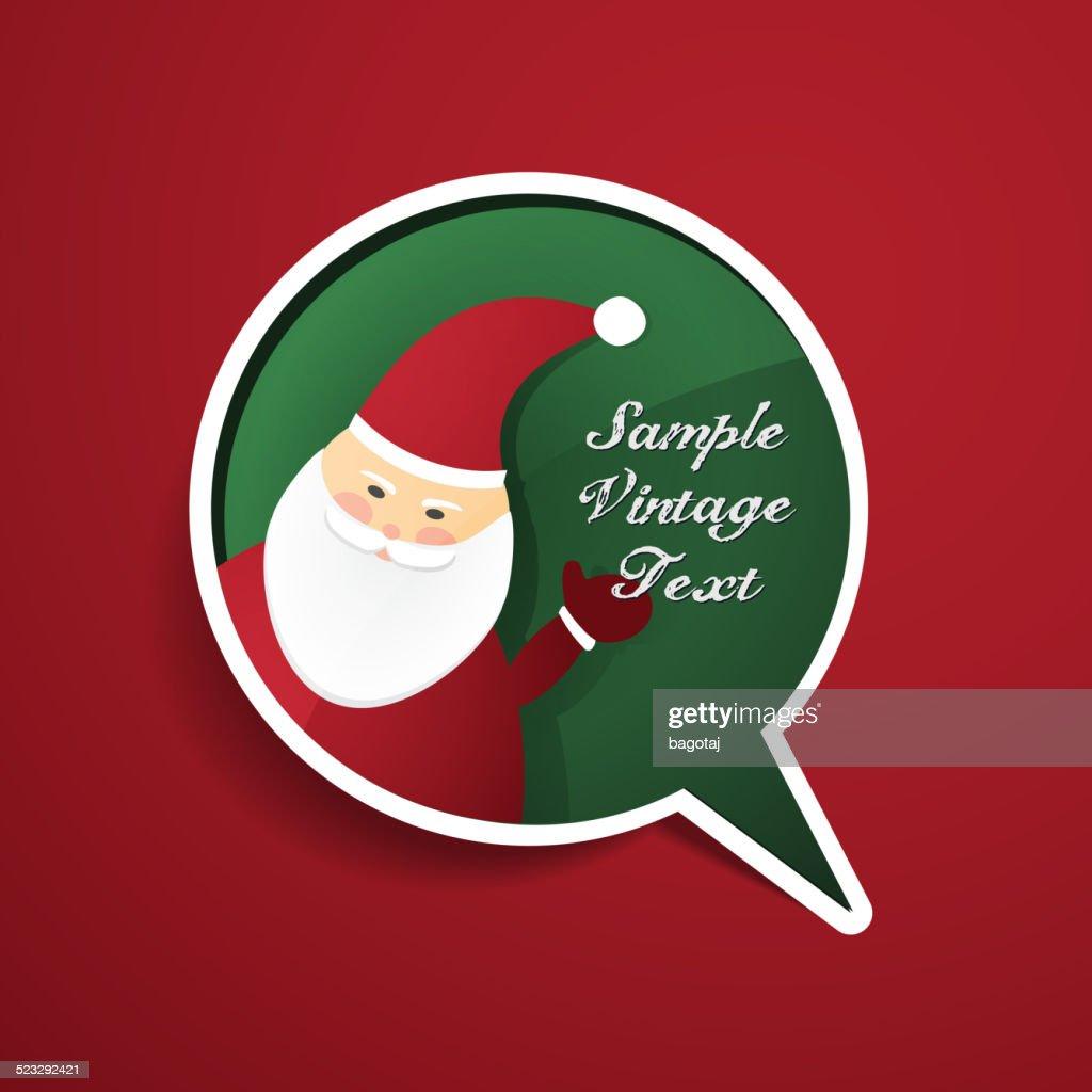 Holiday Speech Bubble Concept