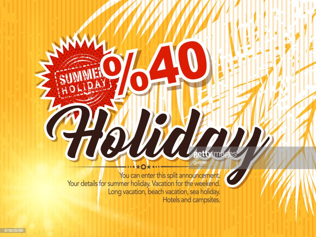 holiday summer sale : stock illustration