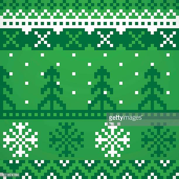 holiday sweater repeating patterns - sweater stock illustrations, clip art, cartoons, & icons