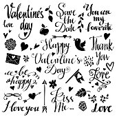 Holiday Valentines day, wedding icons, text