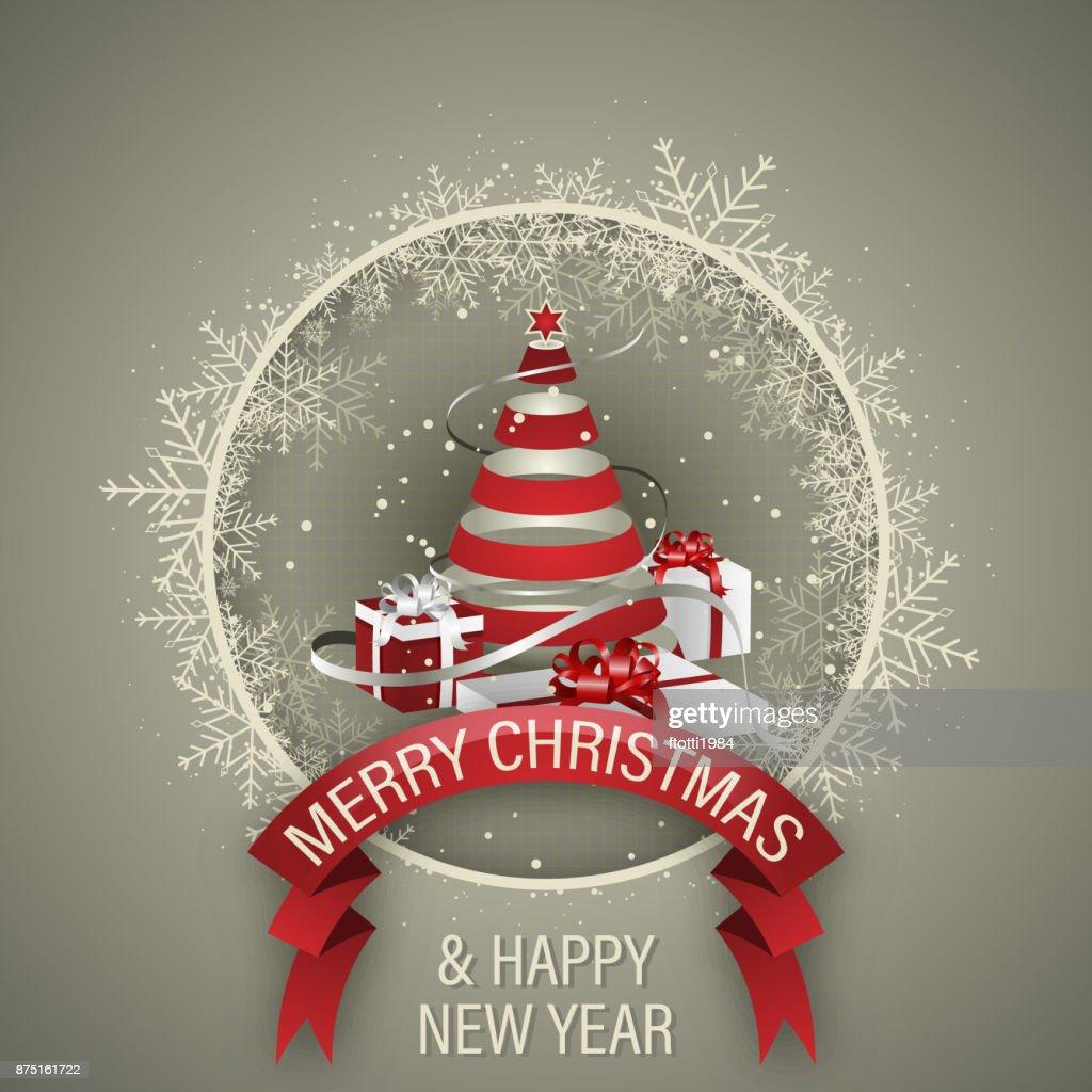Urlaub Vektor Hintergrund Frohe Weihnachten Und Happy New Year ...