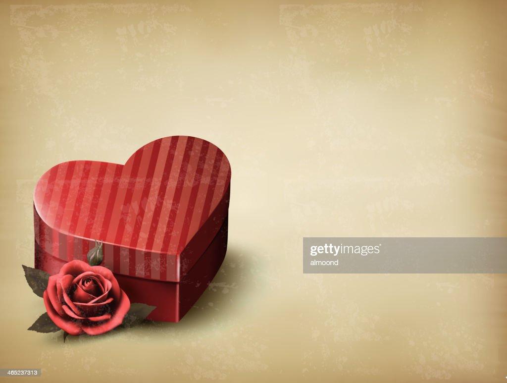 Holiday vintage Valentine`s day background.