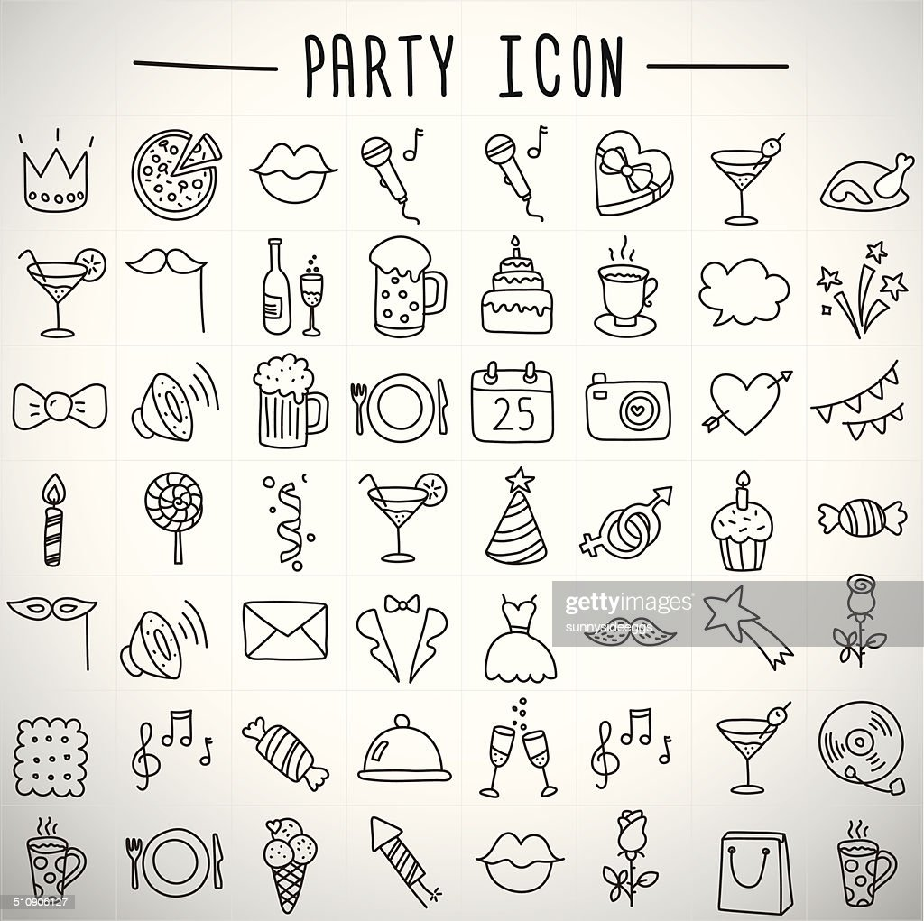 holidays and party icons