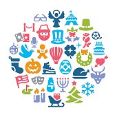 Holidays Collage Vector Art