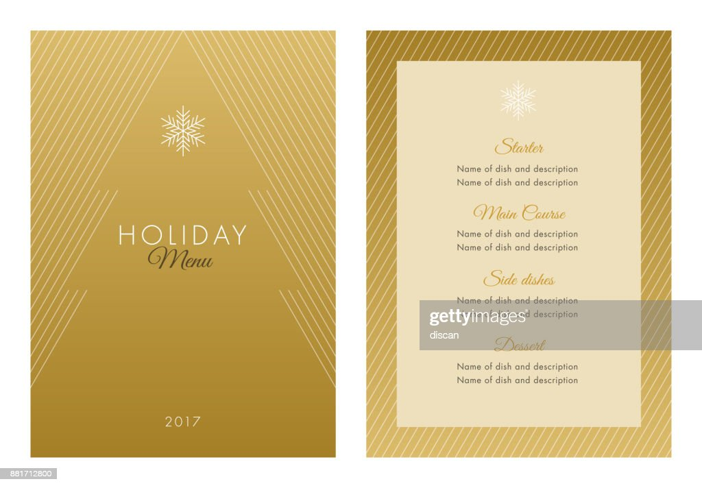 Holidays Menu Template.