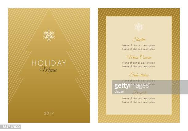 holidays menu template. - luxury stock illustrations