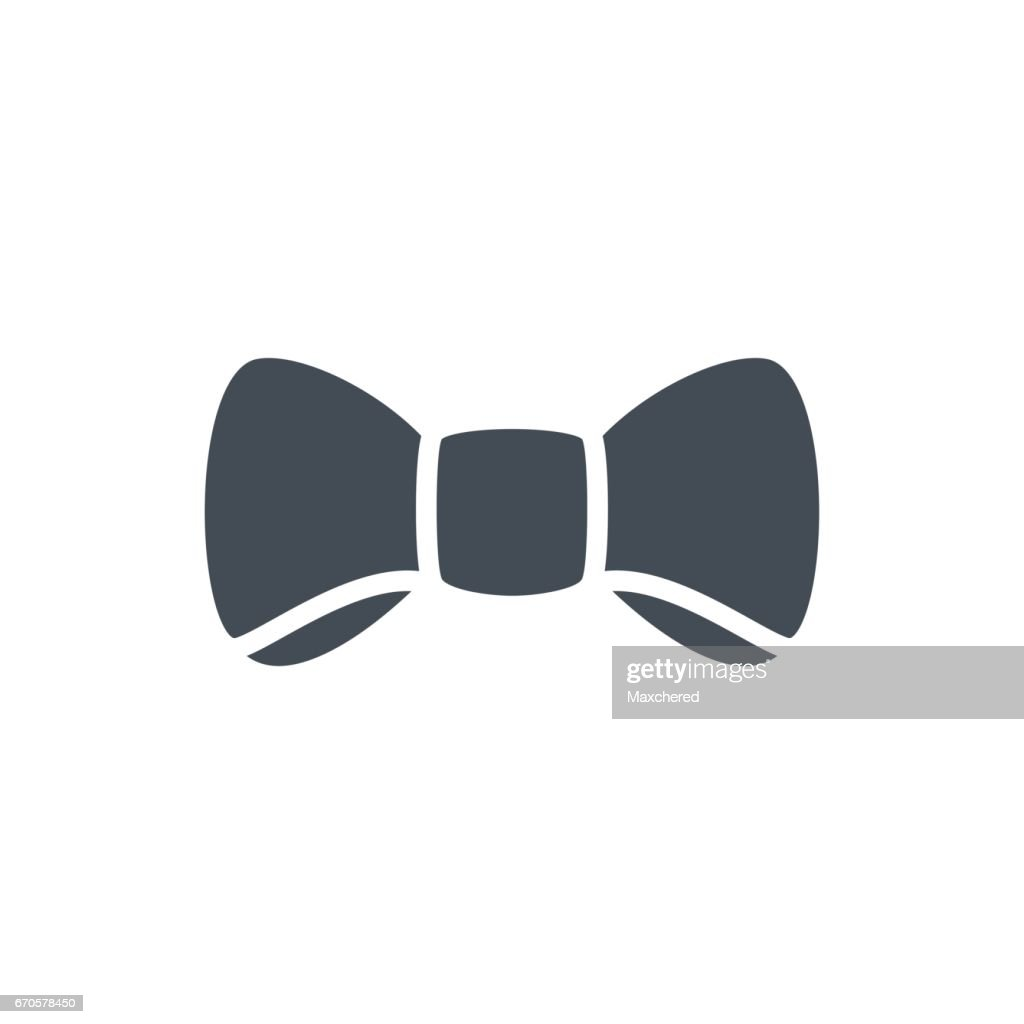 Holidays Party Wedding Silhouette Icon Man Bow