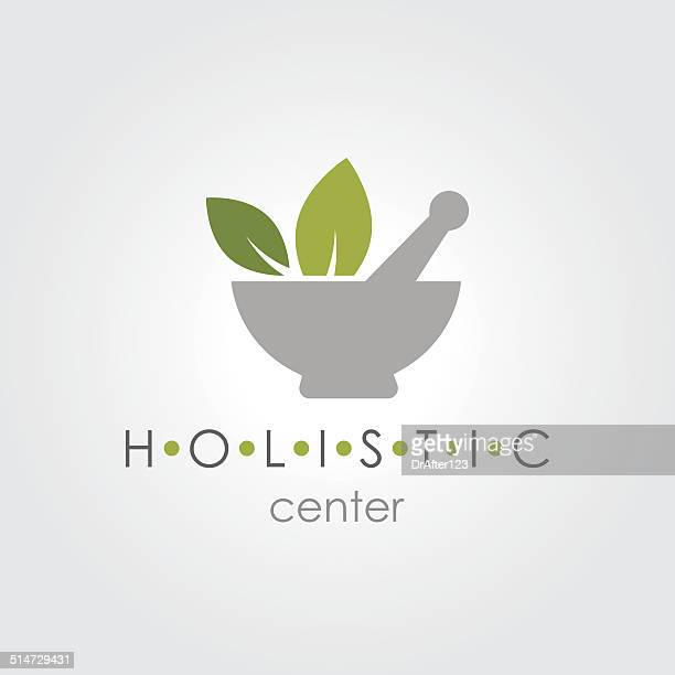 holistic sign - mortar and pestle stock illustrations, clip art, cartoons, & icons