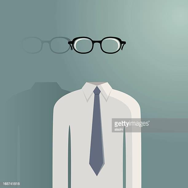 Hollow transparent man