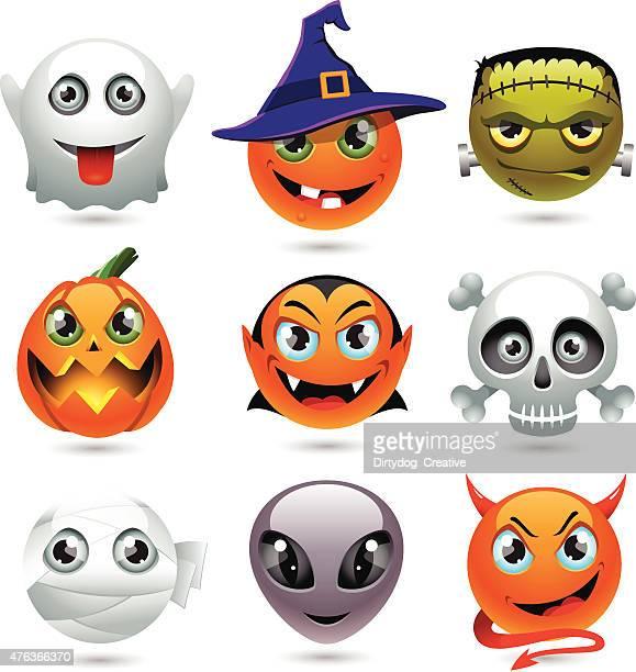 ilustraciones, imágenes clip art, dibujos animados e iconos de stock de holloween emoticons - vampiro