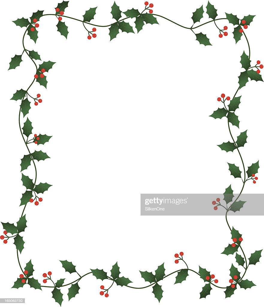 holly border vector art getty images