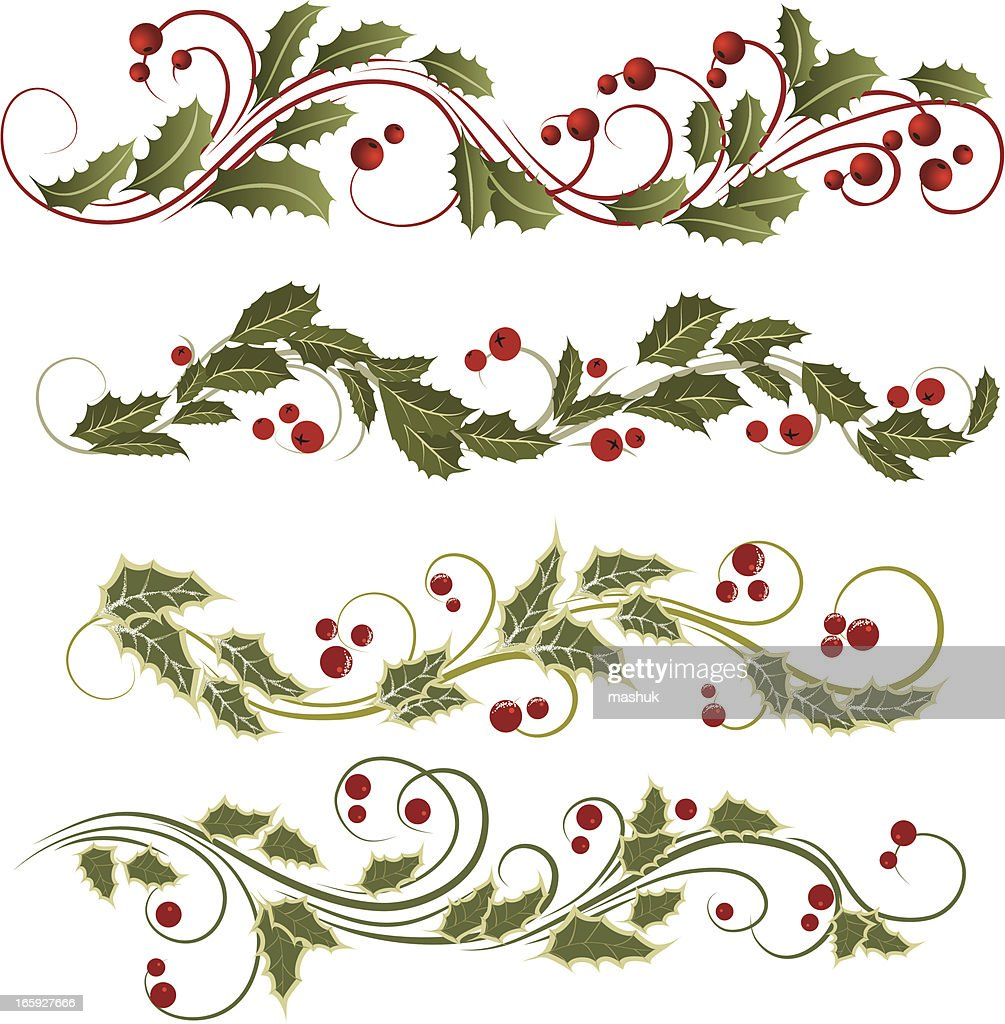 Holly Christmas ornament illustration