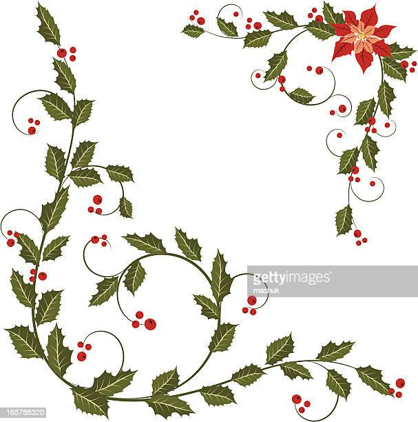 eafb4e5a3 60 Top Christmas Poinsettias In Background Stock Vector Art and ...