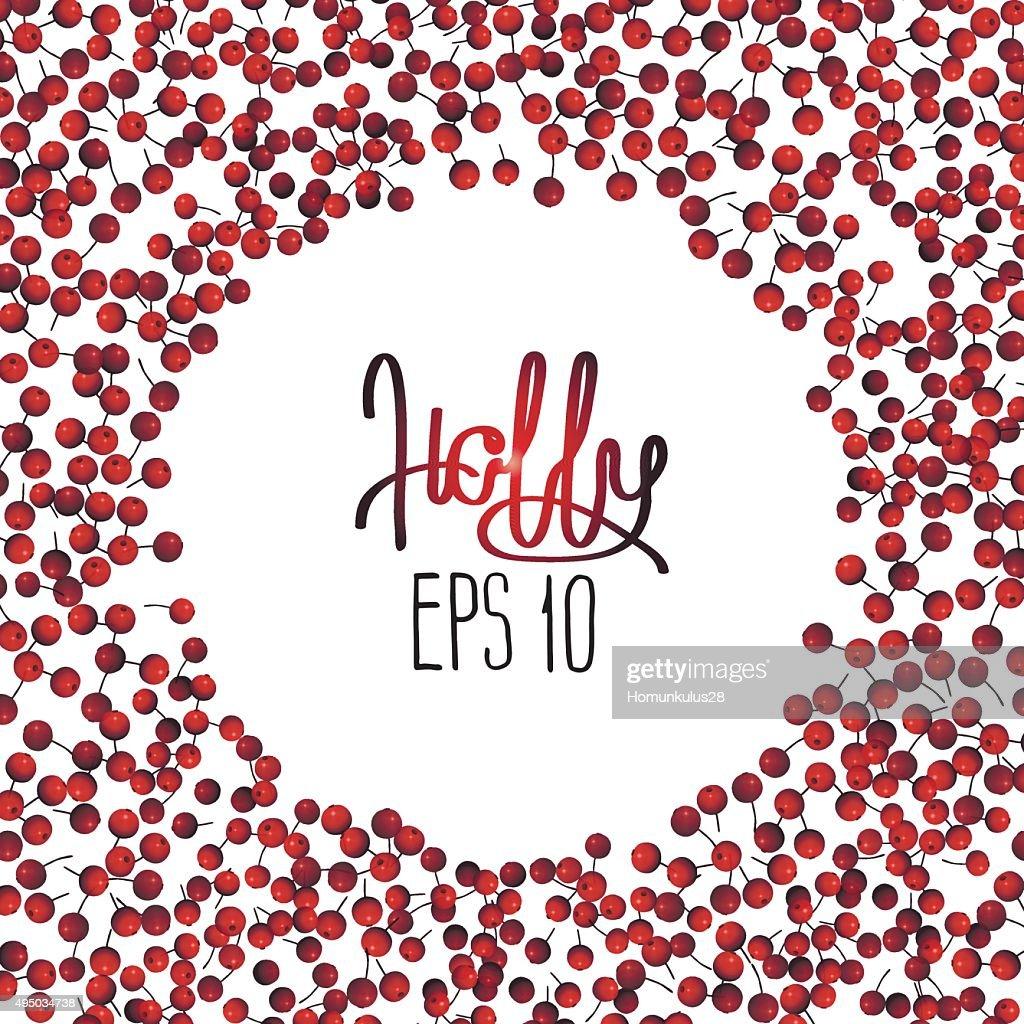 Holly vector card