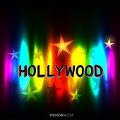 Hollywood rainbow color Stars background