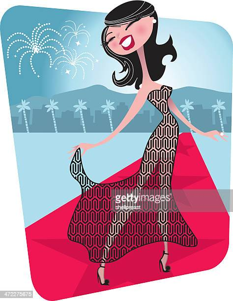 Hollywood alfombra roja actriz