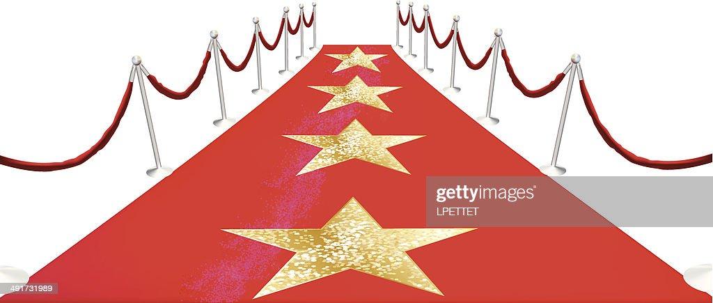 Hollywood Red Carpet - Vector Illustration : stock illustration