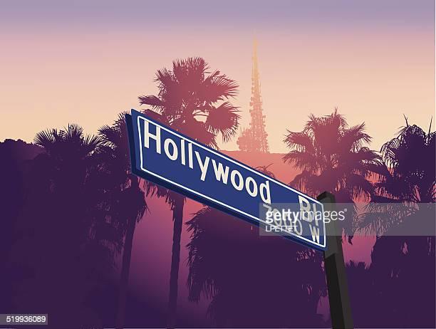 hollywood - hollywood california stock illustrations