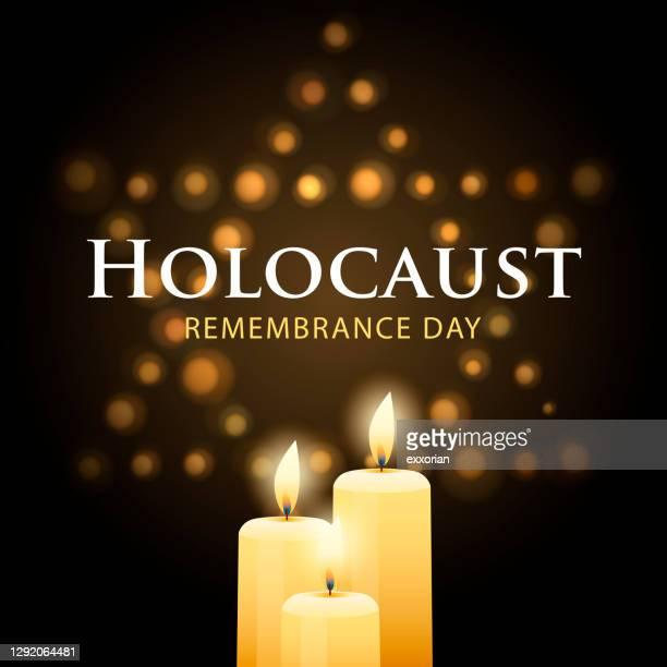 ホロコースト記念日キャンドル照明 - ユダヤ教点のイラスト素材/クリップアート素材/マンガ素材/アイコン素材