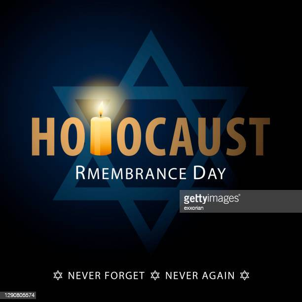 holocaust remembrance day commemoration - holocaust remembrance day stock illustrations