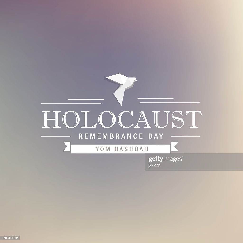 holocaust remembrance day- white dove typography design