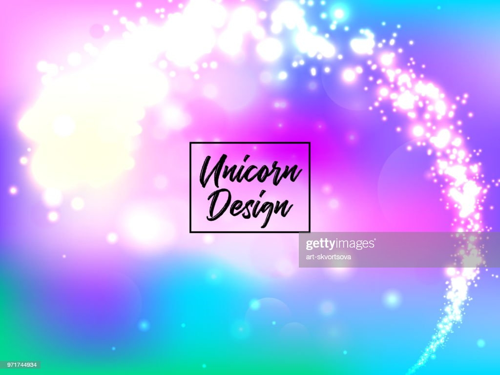 Hologen colorful abstract background. Cute galaxy fantasy bright candy background