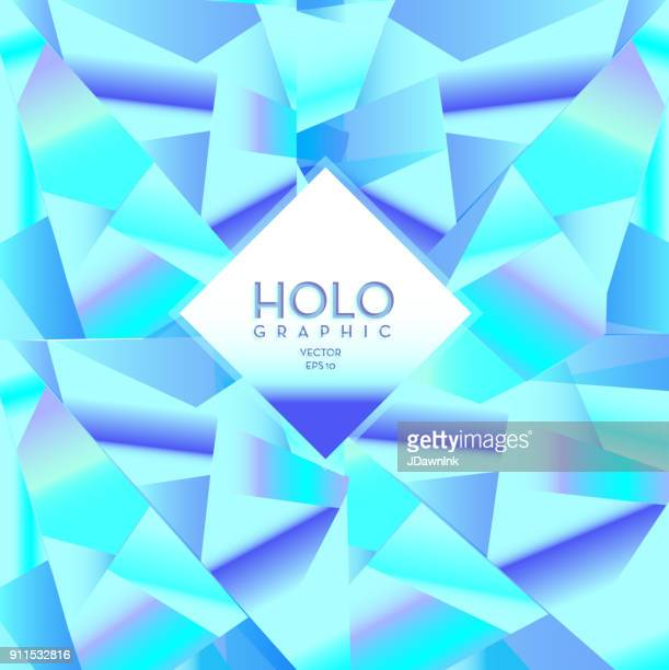 Holographic background design template