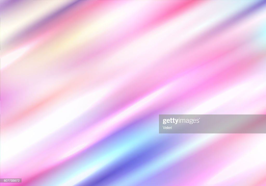 Holographic background with diagonal glare. Blurred spectrum.