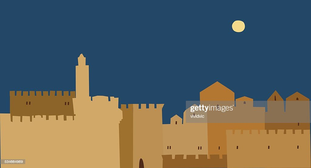 Holy City, Middle East Town