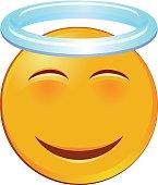 Holy emoji vector icon