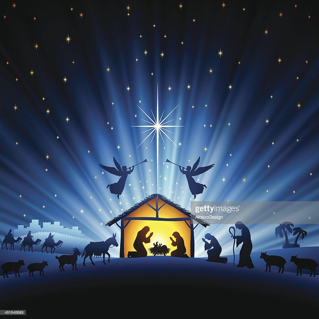 Holy Night Scene : stock illustration
