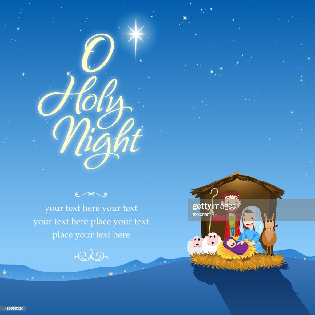 O holy night : stock illustration