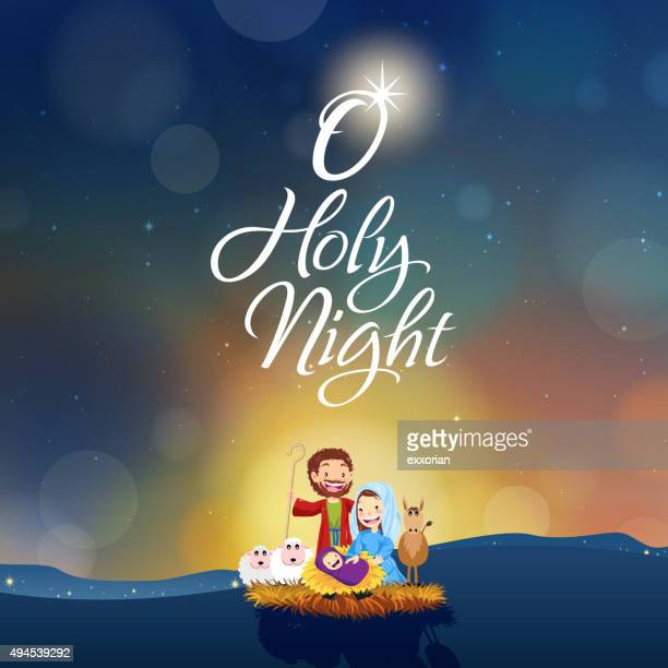 o holy night - spirituality stock illustrations, clip art, cartoons, & icons