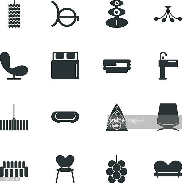 Home and Decor Silhouette Icons | Set 2