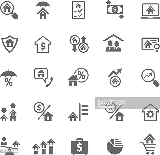 Home and finance icon set