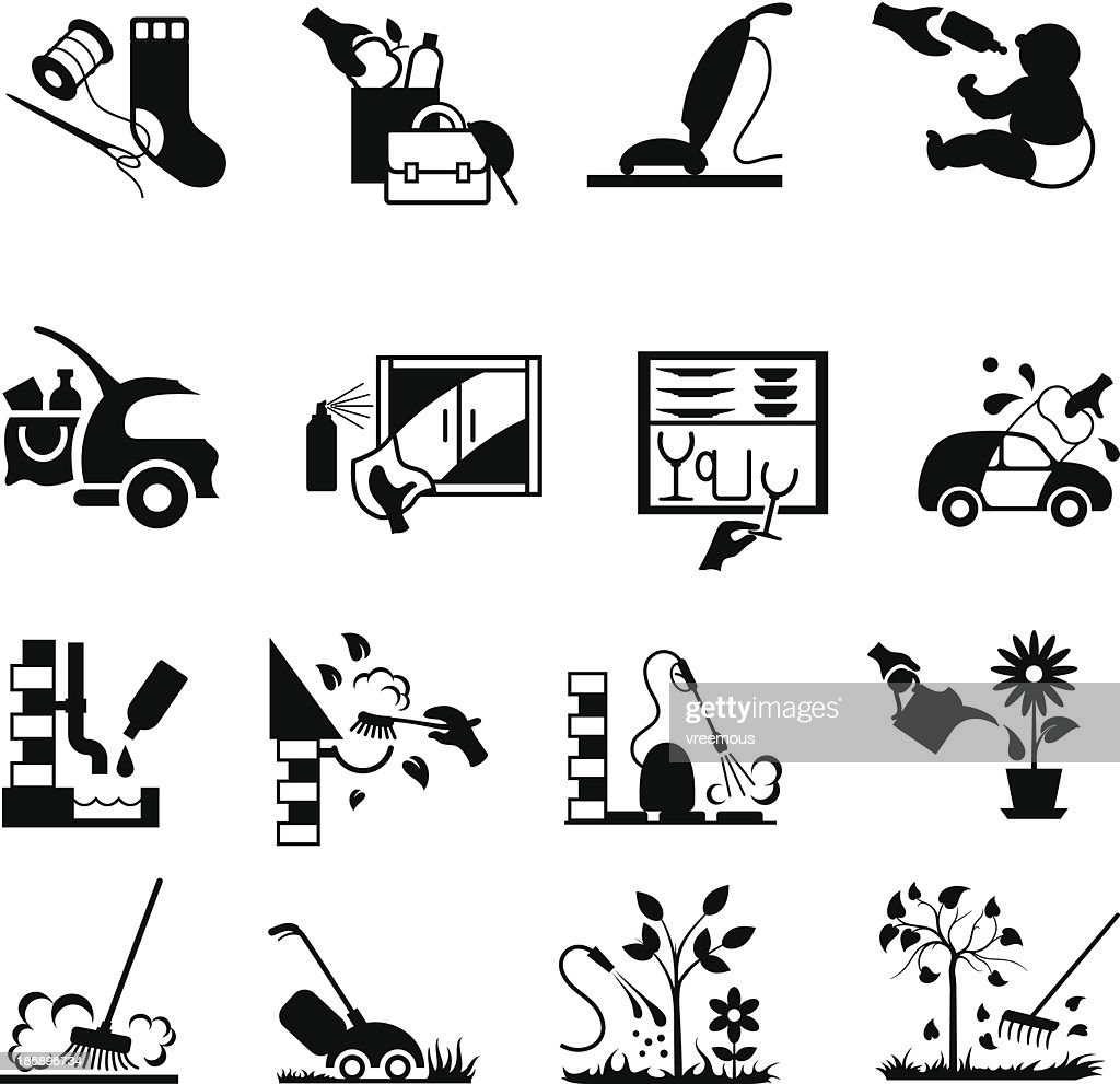 Home and Garden Housework Icons