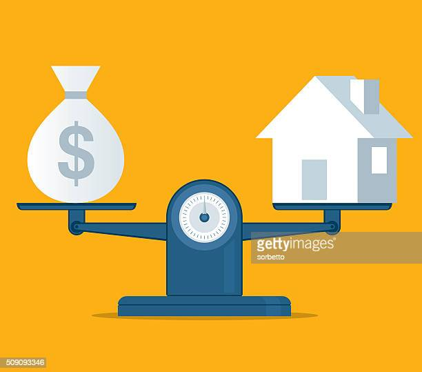 home and money - finance and economy stock illustrations