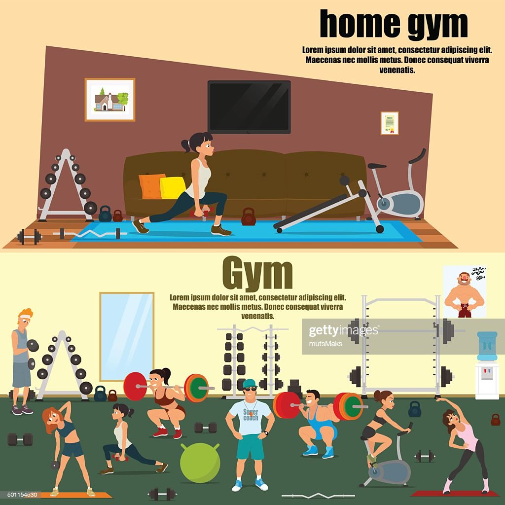 home and professional gym room
