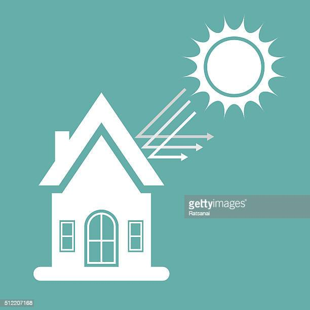 home and sunlight icon - {{relatedsearchurl('county fair')}} stock illustrations, clip art, cartoons, & icons